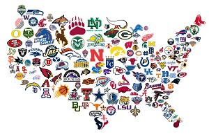 UNITED STATES OF SPORTS MAP Diamond Painting Kit Paint with Diamonds Kit