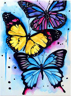WATERCOLOR BUTTERFLIES Diamond Painting Kit Paint with Diamonds Kit