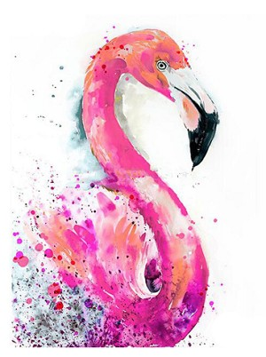 WATERCOLOR FLAMINGO Diamond Painting Kit Paint with Diamonds Kit