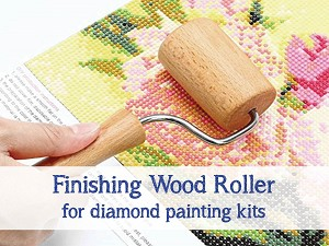 FINISHING WOOD ROLLER Diamond Painting Roller for Securing Drills to Canvas