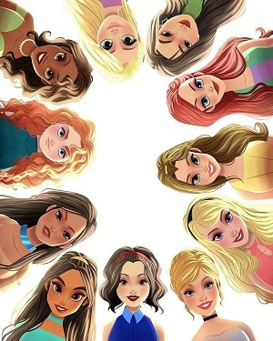 DISNEY PRINCESS CIRCLE OF FRIENDS Diamond Painting Kit Paint with Diamonds Kit
