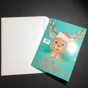 SANTA'S REINDEER Diamond Painting Card Kit Paint with Diamonds Christmas Card Kit